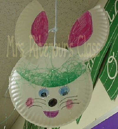 Craft Ideas  Felt on Paper Plate Bunny Mobile Craft Ideas Given To Me By Others Foam Bunny